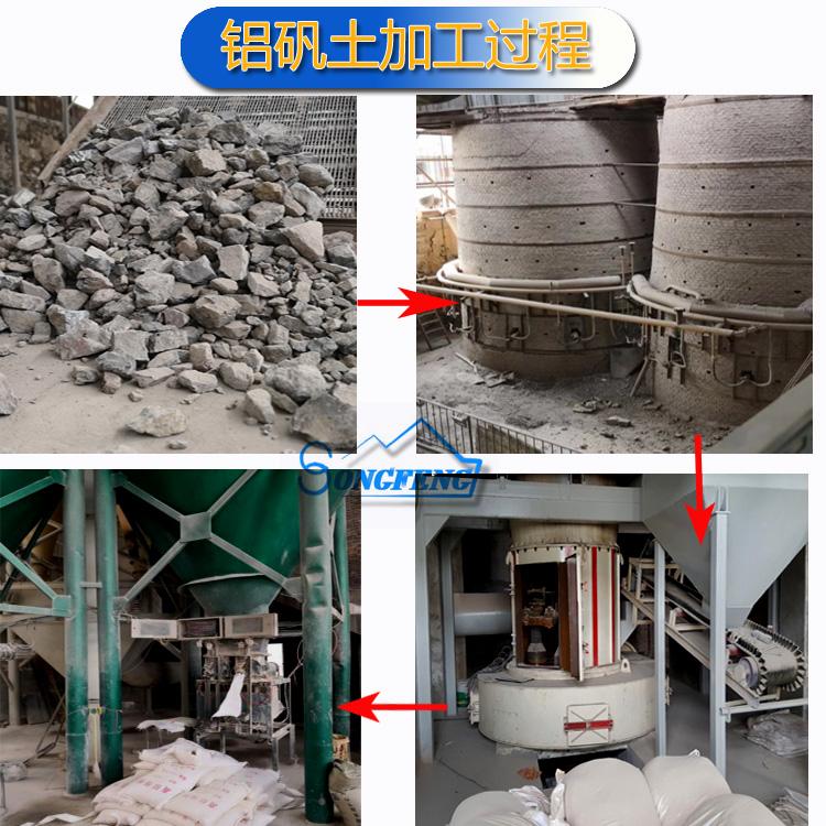 铝矾土 铝矾土细粉 高铝细粉厂家加工过程图